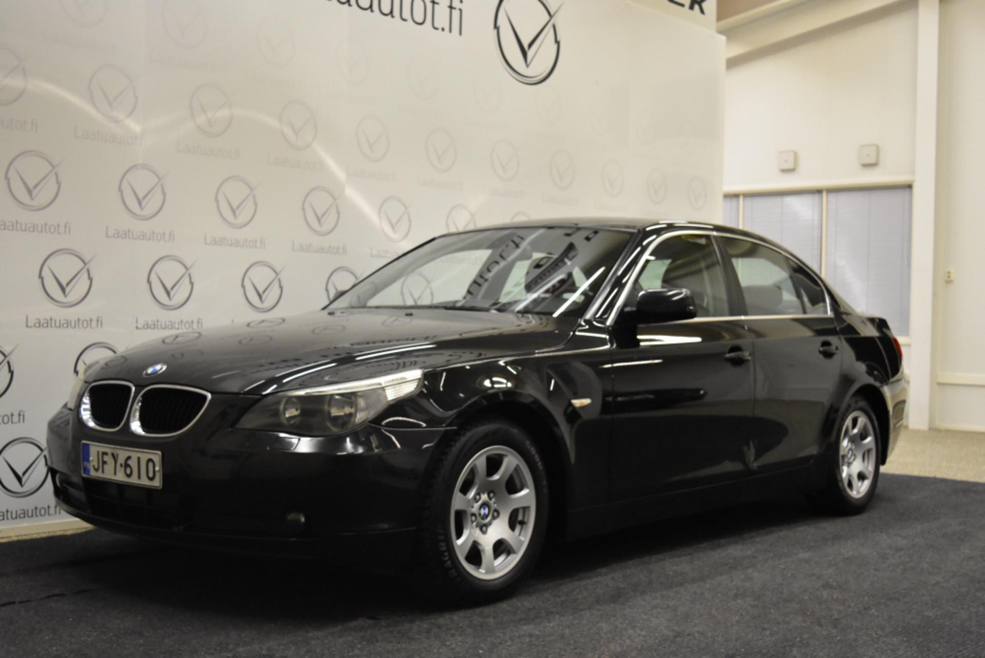 BMW 520 iA Sedan - 1-omistaja,  Suomi-auto,  Nahat,  Auto-ac,  juuri katsastettu,  jopa ilman käsirahaa