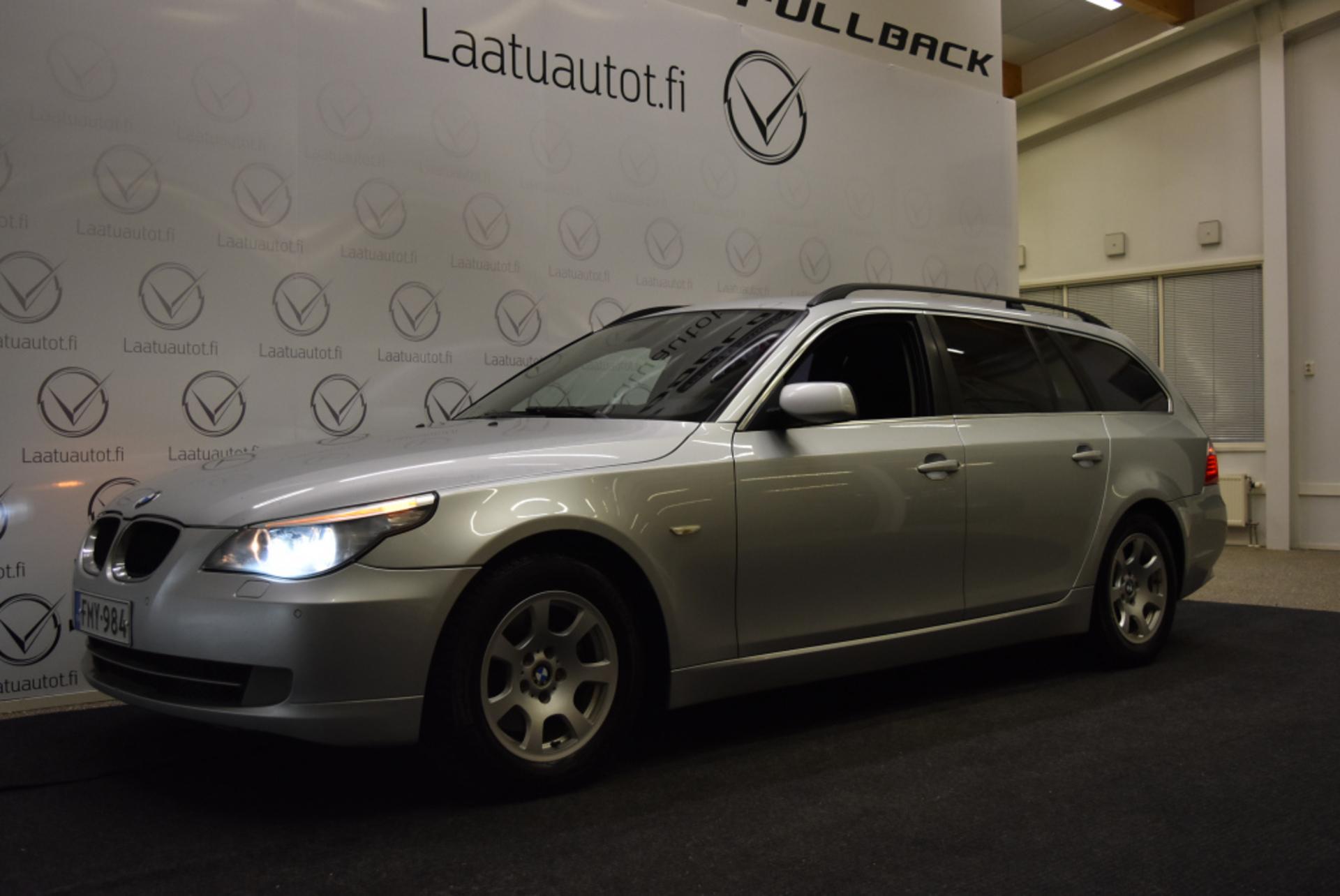 BMW 520 E61 Touring Business Aut - Suomi-auto,  Korkotarjous 1.99%! Auto Ac,  Vakionopeudensäädin,  Koukku!
