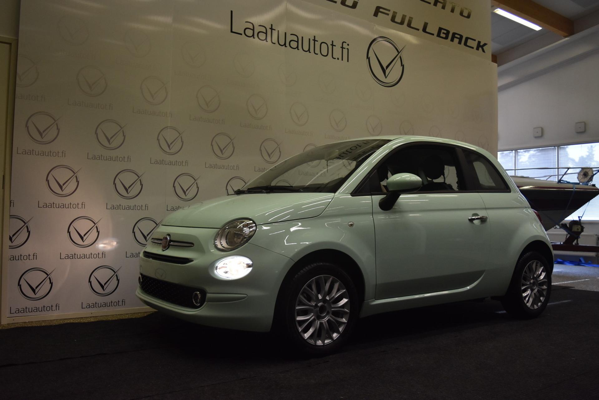FIAT 500 1, 2 69hv Pop Start&Stop** - Uusi ajamaton auto,  korkotarjous 1, 99%+kulut,  rahoitus jopa ilman käsirahaa